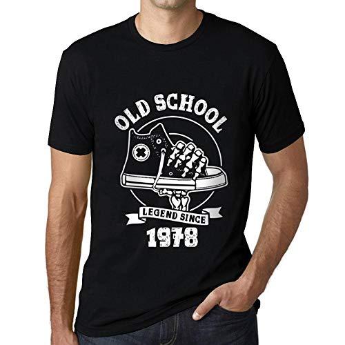 Hombre Camiseta Vintage T-Shirt Gráfico Old School All Star Since 1978 Cumpleaños de 42 años Negro Profundo