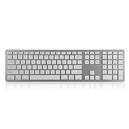 Wendry Wireless Bluetooth Keyboard, Universal Universal Multi-Pairing Bluetooth Wireless Keyboard 104 Keys Universal para la mayoría de Smart TV/PC/Laptops/Tablets