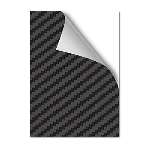 AlphaShield (48,23€/m²) Lackschutzfolie Din A4 Format 21x29cm für Kfz Auto Motorrad Bike Fahrrad Roller Selbstklebend Lack Schutz vor Steinschlag Folie (Carbon, 1 x Din A4)