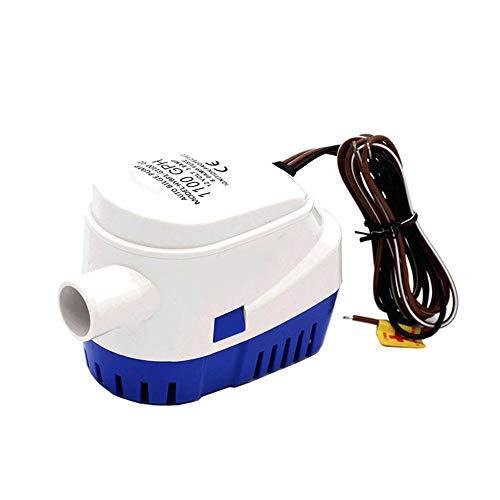 DC12V / 24V 600/750 / 1100GPH Bomba de achique automática Bomba de agua sumergible para barco eléctrica con interruptor de flotador Equipo marino
