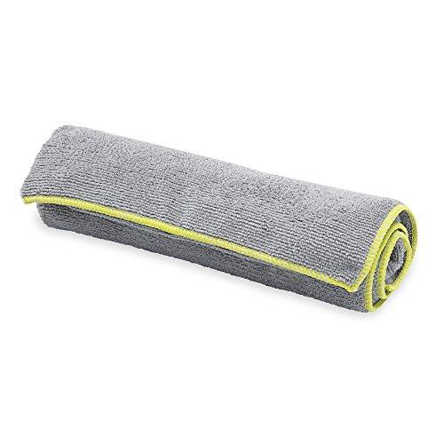 Gaiam Yoga Hand Towel, Granite Storm/Citron