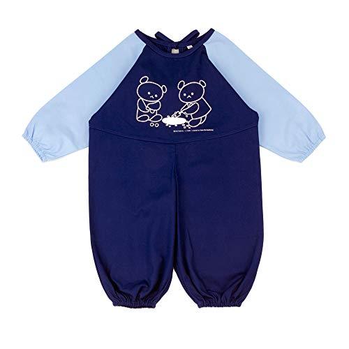 こぐまちゃんお砂場着 子供服 (80/ブルー) 【KC-KAK-K021】 プレイウエア 遊び着