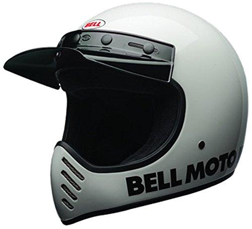 Bell Moto-3 Classic Helmet Hommes, White, XL