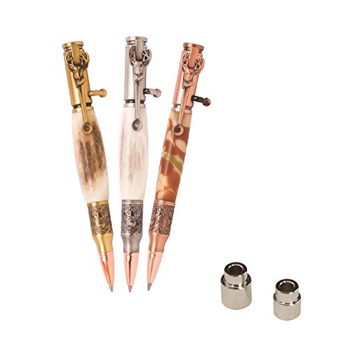 Penn State Industries PKCP8DHSS Deer Hunter Bolt Action Ballpoint Pen Kit Starter Package Woodturning Project