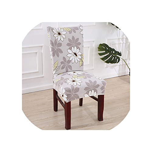 Rchhy Floral Print Letter Dining Chair Cover Spandex Elastic Anti Dirty Slipcovers Stretch Removable Hotel Banquet Seat Case,10,Universal