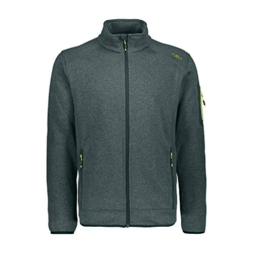 CMP Herren Strickfleece Jacke 3H60747N, Jungle-Stone-Lime, 54