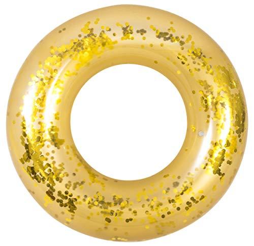 Jilong- Anello Salvagente Gonfiabile, Colore Oro, 37539