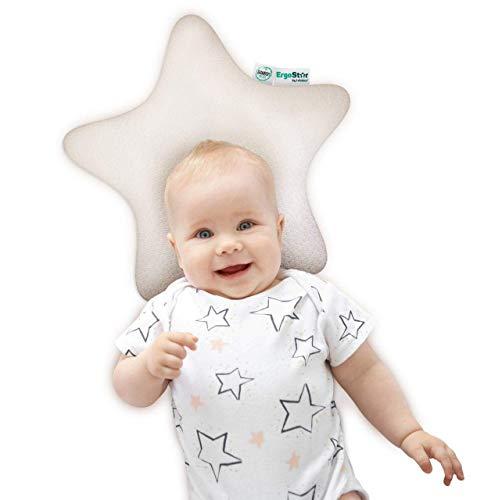 ErgoStar bei Lelekka® orthopädisches Premium 2-Zonen Bambuskissen inkl. 2 Bezüge Orthopädisches Babykopfkissen gegen Plattkopf & Kopfverformung - Plagiozephalie Babykissen mit Füllung aus Memoryschaum