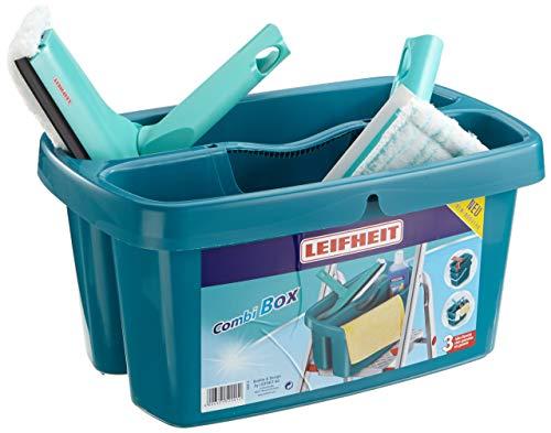 Leifheit 52008 Set de Nettoyage pour Vitres et Salle de Bain
