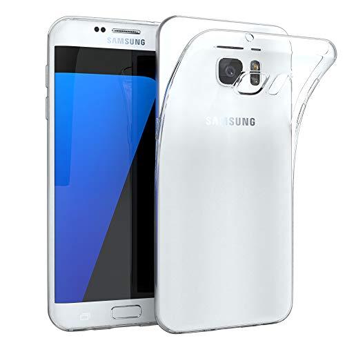 EAZY CASE Hülle kompatibel mit Samsung Galaxy S7 Edge Schutzhülle Silikon, Ultra dünn, Slimcover, Handyhülle, Silikonhülle, Backcover, Durchsichtig, Klar, Transparent