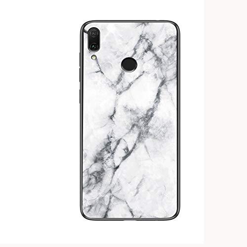 SHIEID Cover per Meizu Note 9,Mármol Vidrio Templado de Case Cover Ultra...