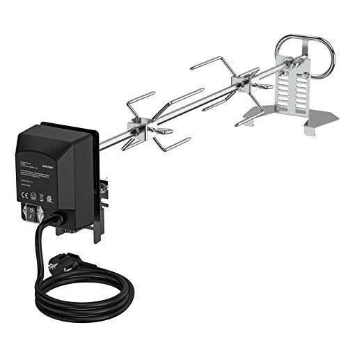 Onlyfire Universal spiedo per girarrosto in Acciaio Inox, girarrosto Elettrico con Grillmotor per Grill a Gas