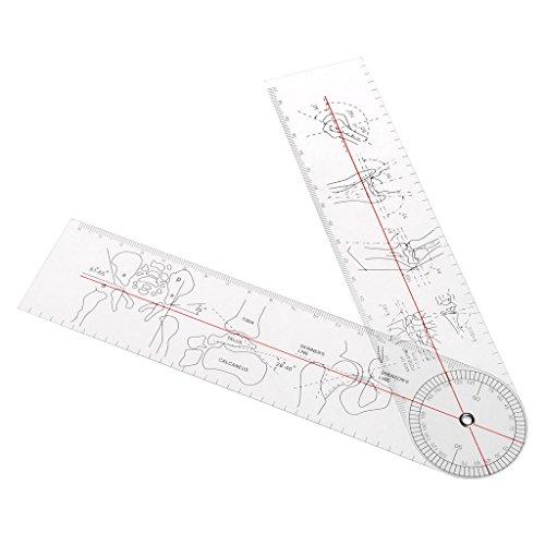 PINGÁngulo del goniómetro Regla médica Regla Articulación conjunta Instrumentos de herramientas Plástico