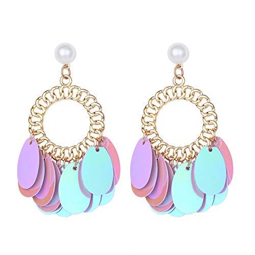 DZZBY Ohrringe Damenmode Ohrringe Legierung Originelle Runde Ohrringe Kreative Ohrringe