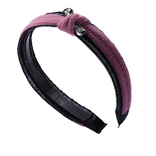Cerceau pour les cheveux Couvre-chef Bande passante pour cheveux Partie en cristal adaptée à différents styles de cheveux, Rose
