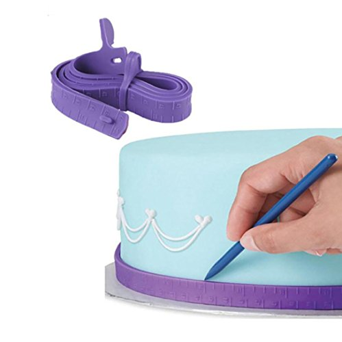 TAOtTAO Silicone Fondant Cake Ruler Molds Cake Diagnostic Tools Cake Marker Leveler Decorator Garland Border Baking Pastry Tools