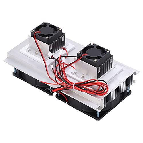 Refrigeración termoeléctrica Sistema de refrigeración, DC 12V Refrigerador de semiconductores de 2 núcleos Refrigeración termoeléctrica para el plan de investigación para la refrigeración