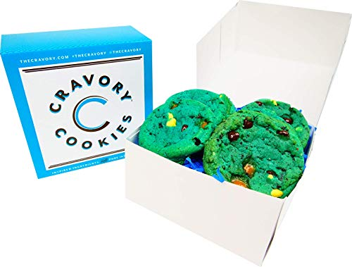 The Cravory: Cookie Monster Cookies - 6 cookies, 2.0 oz. each - Individually Wrapped - Gourmet - Baked Fresh - Dessert, Snack or Baked Goods - Mix and Match Your Favorite Flavors