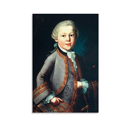 YRTC Lot de 2 posters Wolfgang Amadeus Mozart - Impression sur toile - Décoration pour salon, chambre à coucher - 50 x 75 cm