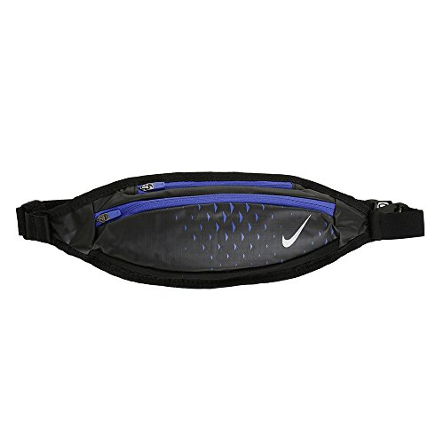 Riñonera Nike Small capacity Waistpack, color negro azul
