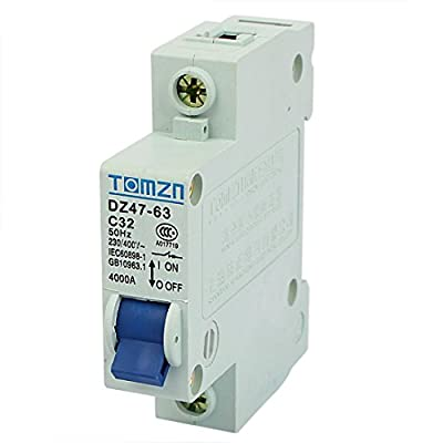 uxcell AC 230/400V 32A 1 Pole 1P Overload Protection MCB Mini Circuit Breaker