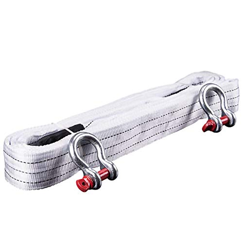QDTD Cuerda De Remolque 4m 5m 8m 25T 4x4 Cinturón Heavy Duty Tow Cable De Cabina De Remolque For El Coche SUV Agrícola Vehículo Yate con 2 Ganchos De Seguridad Y Bolsa De Almacenamiento(Size:4m 25T)