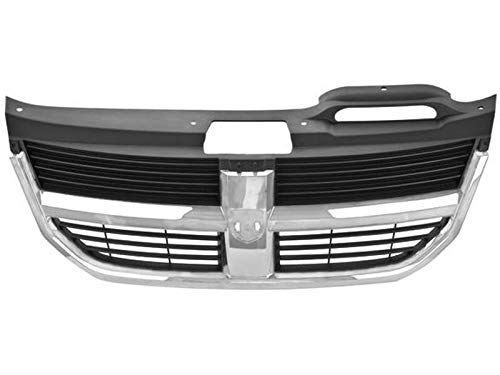 Parrilla - Compatible con DODGE Journey 2009-2010 - Con moldura, Color Cromada