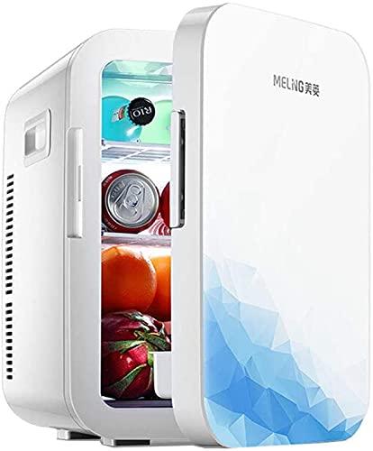 TANKKWEQ 10L Mini Nevera, Tor portátil con Mango, Mini refrigerador de Viaje |Refrigerador eléctrico para Interiores, al Aire Libre |DC y alimentación de CA