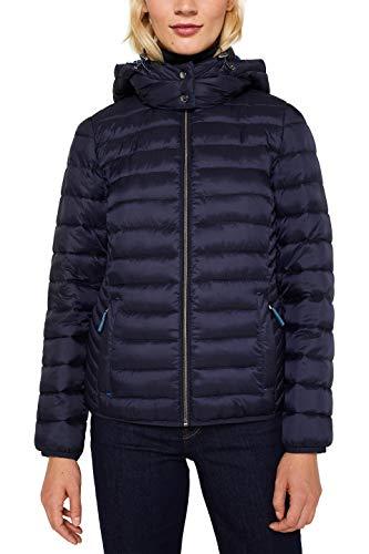 ESPRIT Damen 129Ee1G005 Jacke, Blau (Navy 400), Large (Herstellergröße: L)
