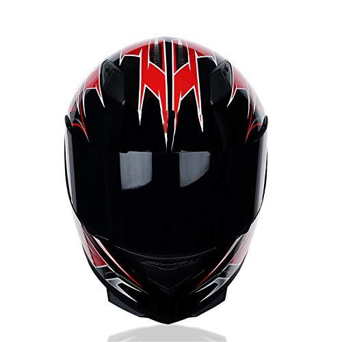 Motorrad Helm Integral Helm Damen und Herren Roller Helm Scooter-Helm inkl. Sonnenvisier, ECE Zertifiziert ,Mehrfarbiga,XXL