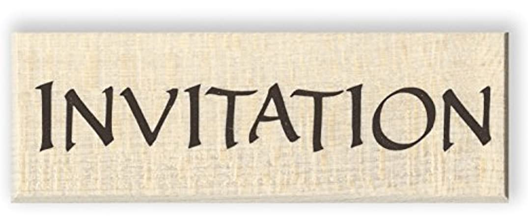 Invitation Wood Mounted Rubber Stamp (C3378)