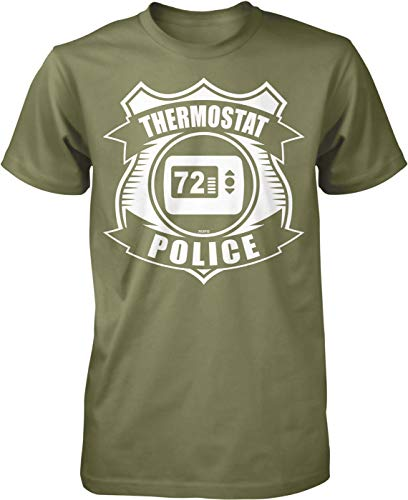 NOFO Clothing Co Thermostat Police Men's T-Shirt, XXL Moss