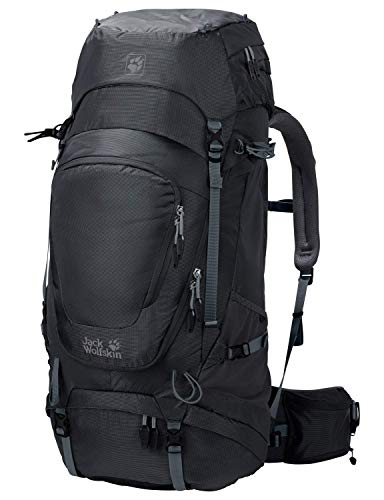 Jack Wolfskin Mädchen Highland Trail XT 60 Wandern Outdoor Trekking Rucksack, Phantom, 68x34x12 cm