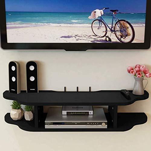 Mueble de TV montado en la pared Soporte de TV flotante Estante Consola de TV con estante de almacenamiento abierto Consola de medios Centro de entretenimiento Estante de...