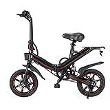 SJY Bicicleta eléctrica, Plegable, Bicicleta eléctrica para Adultos, 500W, con batería de Iones de Litio, 15 Ah / 48 V, 25 km/h, Frenos de Disco Delanteros y Traseros