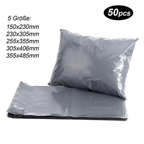 50st Versandtaschen Versandbeutel Versandtueten Blickdicht, Grau, 230x305MM