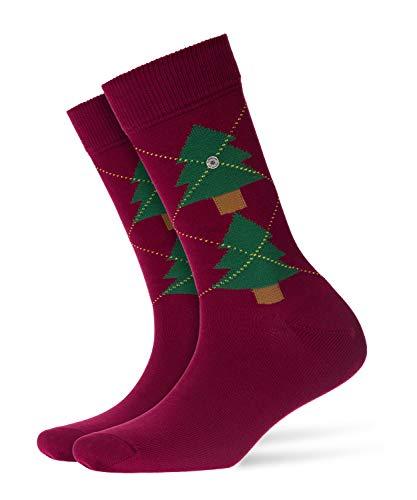 BURLINGTON Damen Socken Tannenargyle, Baumwollmischung, 1 Paar, Rot (Chianti 8370), Größe: 36-41