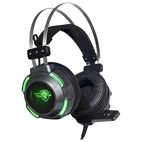 Spirit Of Gamer - ELITE-H30 - Casque Gaming PS5 XBOX X PS4 PC SWITCH XBOX ONE / Prise Jack 2 x 3,5 mm/Son Stereo 2.0 avec HP 50 mm - Ultra Light - LEDs Verts