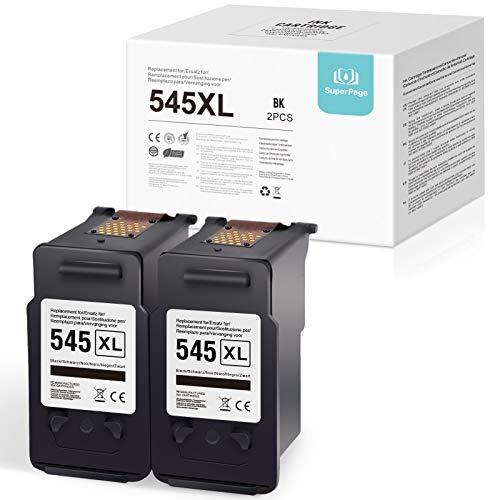 Superpage reemplazo para Canon PG-545XL Reciclar Cartuchos de tintan para Canon PIXMA MG2550 MG2450 MG2400 MG2950S MG2500 MG2550S IP2850 MG2900 MG2555S MX490 MX495 IP2800 MG2455 MG2920(2 Negro)