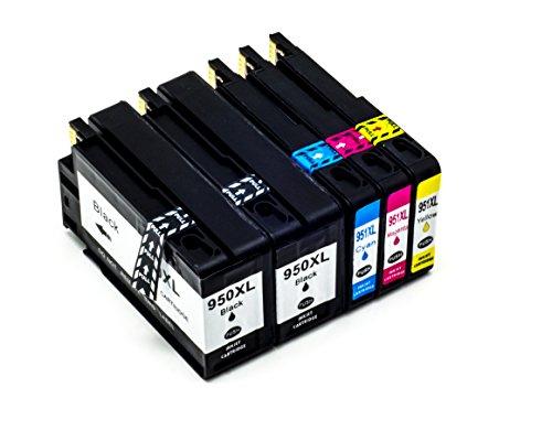 Hyggetech 5 cartuchos de tinta XL de repuesto para HP950XL 951XL 950 951, compatibles con HP Officejet Pro 276DW 251DW 8660 8640 8625 8600 8610 8620 8630 8100 8616 8615