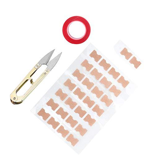 Parche para uñas encarnadas, herramienta de pedicura que ayuda a sacar la uña incrustada de la carne, viene con tijeras para callos de piel muerta (30 piezas)