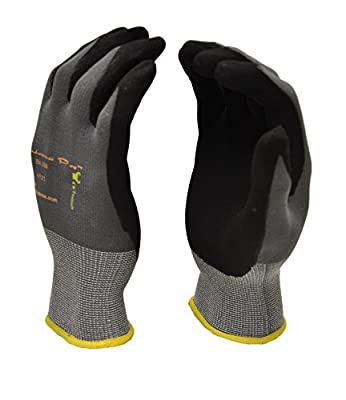 MicroFoam Nitrile Coated Work Gloves for General Purposes, Lightweight Work Gloves