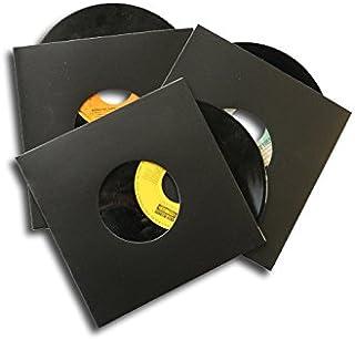 CUIDATUMUSICA 50 Carpetas/Fundas DE Carton Negro para Discos DE Vinilo Singles (Los Discos Pequeños) / Ref. 1352 - Marca C...