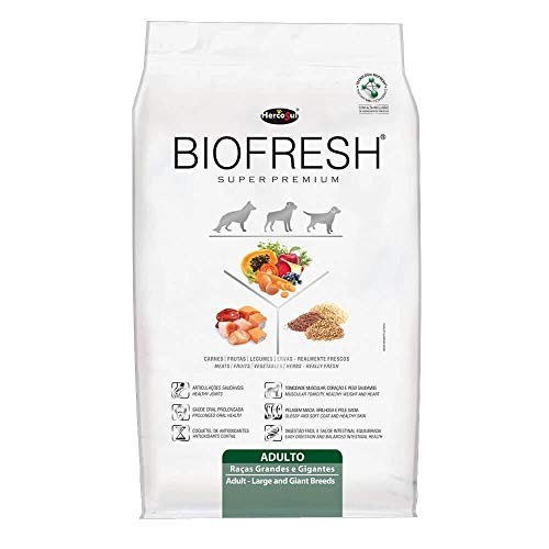 A Ração Hercosul Biofresh Raças Grandes e Gigantes para Cães Adultos Biofresh Para Todas Grande Adulto, 12kg
