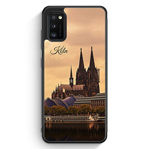 Panorama Köln Kölner Dom - Silikon Hülle für Samsung Galaxy A41 - Motiv Design Skyline Silhouette Schön - Cover Handyhülle Schutzhülle Case Schale