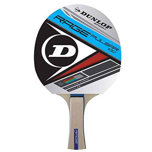 Dunlop Rage Pulsar 100 Pala de Ping Pong, Blanco