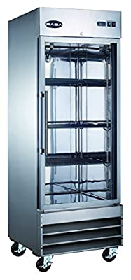 Heavy Duty Commercial Stainless Steel Glass Door Reach-In Freezer (23 cu ft)