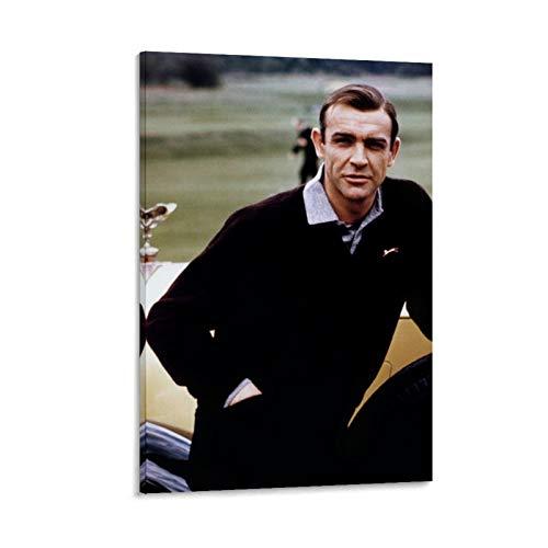 NQSB Film Stars Sean Connery 007 James Bond 23 Poster decorativo su tela da parete per soggiorno, camera da letto, 30 x 45 cm