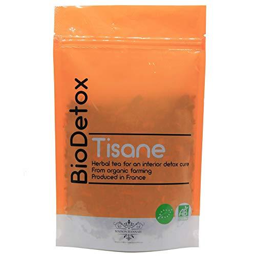 Tisane Detox BIODETOX 100% Bio , The Detox, Detox minceur, Aide dans la Perte De Poids Rapide Et Efficace, Purifie le Corps et le Foie, Action Diurétique et Laxatif avec une Cure 100% Naturelle