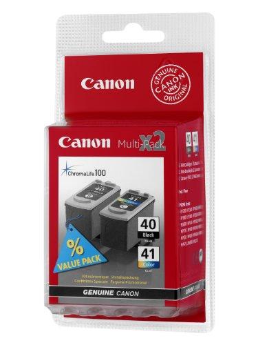 Canon PG-40+CL-41 Cartucho Multipack de tinta original Negro y Tricolor para Impresora de Inyeccion de tinta